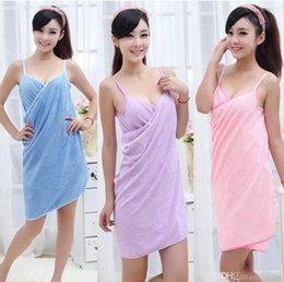 Wholesale Towel Lady - 100Pcs Bath Towels Fashion Lady Girls Wearable Fast Drying Magic Bath Towel Beach Spa Bathrobes Bath Skirt