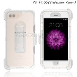 Wholesale Water Defender - 3 in 1 Clear Defender Case Transparent Robot Armor Full Body Cover Tough With Stander For iPhone X 8 7 6 Plus Samsung S7 edge S8 Plus Note 8