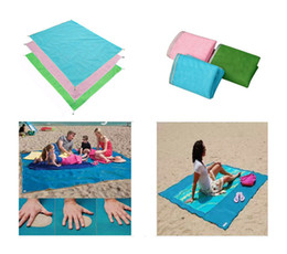 Wholesale Mat Foam Pad - New 2017 Sand Free Mattress Summer Beach Mat 200cm x 200cm Waterproof Outdoor Camping Picnic Pad