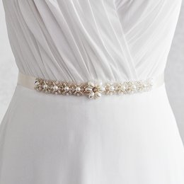 Wholesale Order Wholesale Wedding Supplies - Wholesale Price Women Designers Thin Belt Party Prom Dress Belts Bride Wedding Supplies 10 Colors Ribbon Provide mixed order Waistband R155