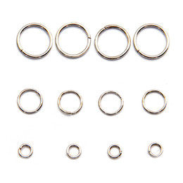 Wholesale Jump Rings For Jewelry - All Size Hot Sale Open Jump Rings Jewelry Findings Components Platina Color Jump Rings for DIY 100g bag JR03