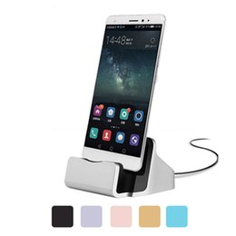 Wholesale Dock Sync Iphone - 2018 Unviersal Charger Docking Stand Station Sync Dock Cradle Charger Holder for iPhone 6 6s 7 Plus Samsung S6 S7 S8 Type C