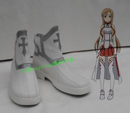 Wholesale Asuna Shoes - Wholesale- Sword Art Online ALfheim Online Asuna Yuuki cosplay costume shoes boots