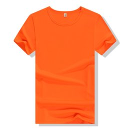 Wholesale Basic White Tee - Customs Solid Color Quick Dry T-shirt Printing LOGO Embroidery Basic Tees Men Fashion Ball Sport T shirts