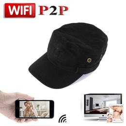 Wholesale Mini Camcoder - HD 720P P2P IP Camera Wearable Mini WIFI Spy Hat Camera Covert Hat Cap Portable DV Camcoder Wifi Nanny Camera Pinhole Video Recorder