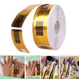 Wholesale Uv Nail Forms - 500Pcs Nail Art Sculpting Extension Forms Nail Guide Sticker Tape Nail Forms Guide Sticker Acrylic Tape UV Gel Tip Manicure Tool