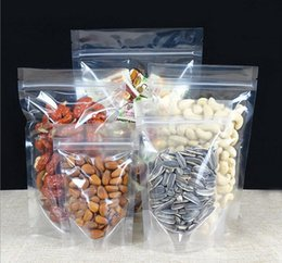 Wholesale Plastic Snack Bag - Clear Plastic Gift Bag Stand up Clear Zip Lock Snack Bag for Drink Beverage Juice Grains Nuts Candy Cookies