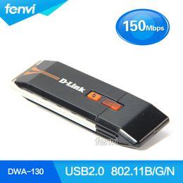 Wholesale D Link Stock - Wholesale- D-Link DWA-130 Wireless-N 150Mbps USB Wlan Adapter Network Lan adapter RTL8191SU USB 802.11b g n Wireless wifi dongle