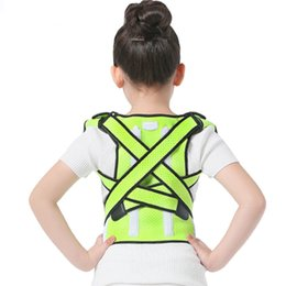 Wholesale High Quality Back Support Brace - High Quality Kids Shoulder Back Posture Corrector Posture Support Belt Elastic Adjustable Health Care Correctors Braces