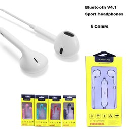 Wholesale Bluetooth Headset S3 - In-ear Bluetooth Headphone AMW-7s Bluetooth 4.0 Stereo Earphone Fashion Sport Running Headsetsfor iphone 6s 7 samsung s7 huawei LG Q77 s3