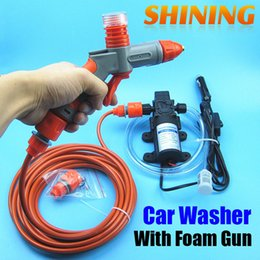 Wholesale 12v high pressure washer - Wholesale- Factory Direct 12V Car Wash Washing Device Car Washing Washer Machine Cleaning Pump High Pressure Water Pump Car Cleaner Device