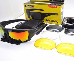Wholesale tactical glasses ess - ESS ROLLBAR Tactical Sunglasses Military Glasses Army Goggles 4 Lens