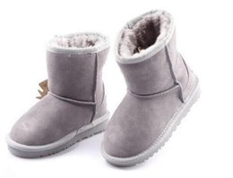 Wholesale high heels babies - 2017 will sell the new real Australian WGG5821 high quality kids boy girl children baby warm snow boots juvenile student snow winter boot fr