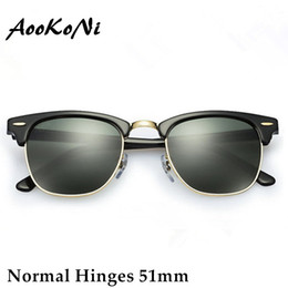 Wholesale Multi Color Frames Sunglasses - AOOKO Hot Sale Designer Brand Sunglasses Master Men Sun Glasses Women Outdoor Semi Rimless Retro Sunglass Gafas de sol Sunglas 51mm