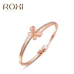 Wholesale Chrismas Tin - ROXI Fashion New Women bracelets,gold Plated Women jewelry,Austrian crystal,wedding birthday Chrismas gifts,party bracelets,