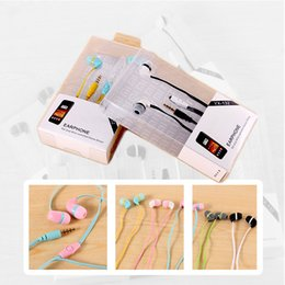 Wholesale Earphones Candy - YX132 XIAOMI In-Ear Music Headphone Candy Colors Super Bass Headset Earphone With Microphone for Apple Samsung Galaxy Mp3 Mp4 Tablet