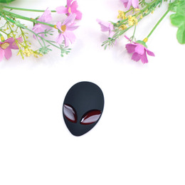 Wholesale black exterior doors - Car 3D Stereo Metal Car Sticker Label Car Styling Exterior Accessories Alien Stickers Black  Green  Silver
