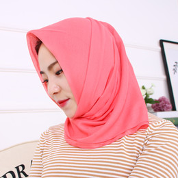 Wholesale Bali Silk - Hot models Bali yarn towel turban monochrome cover scarf scarf is simple and convenient