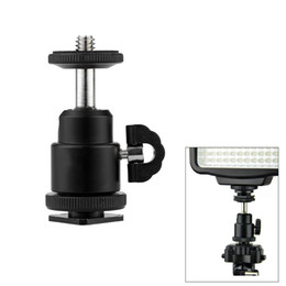 Wholesale Cheap Led Lights For Sale - For Camera Tripod LED Light Flash Bracket Holder Mount 1 4 Hot Shoe Adapter Cradle Ball Head with Lock Cheap Sale