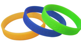 Wholesale Silicone Wristband Printed Logo - Custom Debossed silicone bracelet without logo print ,silicone rubber wristband,sports bands for gift or event 500pcs lot, DHL Free shipping