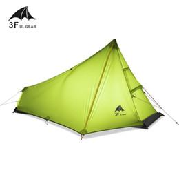 2019 meilleur équipement de camp Vente en gros- 3F UL GEAR 1 meilleur tente de camping pour homme ultraléger aucun pôle étanche personne unique randonnée en plein air sac à dos camp tente meilleur équipement de camp pas cher