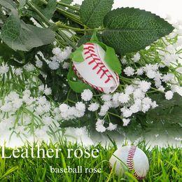 rosas de cuero Rebajas ¡Rosas del béisbol del softball hechas de softballs reales! Softball Béisbol rosas de cuero ramo de diversión deportiva