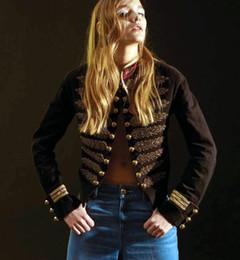 Giacca di stile dell'esercito delle donne online-All'ingrosso 2015 nuove donne di marca autunno stile Kimono Jacket Army Jacket abbigliamento donna Capispalla Chaquetas Etnia Mujer