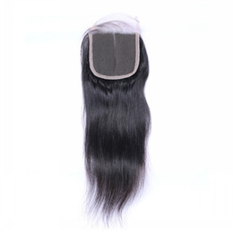 Wholesale Malaysian Baby Curly Hair - 8A Top Grade Closures with Baby Hair Jerry Kinky Curly Body Natural Wave Straight Closures Free Middle Three Part Closure