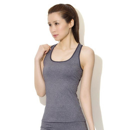 Wholesale Athletic Tank Tops - New Quick Dry Sleeveless Shirts Fitness Training Athletic Workout Sports Yoga Suit Shirt Tank Tops Running Vest Women