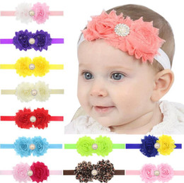 Wholesale Sunflower Headbands - Best gift Sunflower pearl children with hair baby hair buds hair accessories TG094 mix order 30 pieces a lot