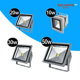 Wholesale White Thick Led - Real Thick shell 5PCS lots 10w 20w 30w 50W led Flood Light 85V-265V Landscape Light Warm White White Outside LED Floodlight