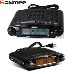 Wholesale Black Clock Radio - Wholesale-Tecsun Radio MP-300 DSP FM Stereo USB MP3 Player Desktop Clock ATS Alarm Black FM Portable Radio Receiver Y4137A Drop Shipping