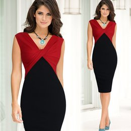 Wholesale Ladies Victorian Dresses - 2017 lady retro new hot Victorian women's dress V neck sleeveless fight after the split sexy dress A1067
