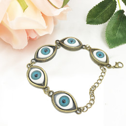 Wholesale Eye Protection Bracelets - Evil Eye Bracelet Handcrafted Assemblage Jewelry Good Luck Good Fortune Protection Eyeball Punk Bracelet Free Shipping