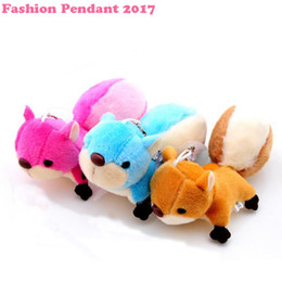Wholesale Toys For Squirrels - Cute Animal Plush Keychain Squirrel Stuffed Gifts for Children 8cm High Quality Cartoon Soft Figure Toys 3 color