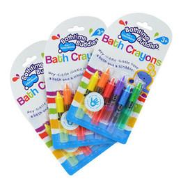 Wholesale Baby Bath Supplies - Wholesale- 6PCS Multi Function Pens baby Toddler Bathing Bath Crayons Bathtime Drawing Writing Fun Play Educational Gift Supply