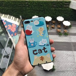 Wholesale Plus For Cats - for iphone 7 paint cartoon cat tpu phone cases covers for iphone 7plus iphone 6s plus cell phones case