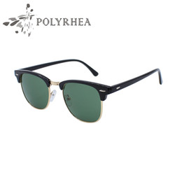 Wholesale Brand Inspired - 2017 New Half Metal Sunglasses UV400 Polarized Sunglasses Brand Designer Inspired Club Women Men Fishing Sun Glasses With Box And Cases