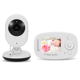 Wholesale Two Way Video Intercom - Wholesale- 2.4G Wireless Digital Video Baby Monitor with Night Vision Two-way Talk 2.4 inch LCD Display Temperature Detection