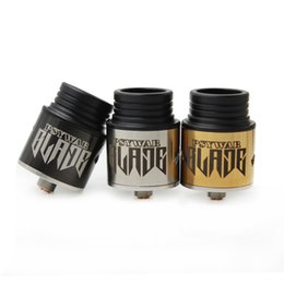 Wholesale Blade Mods - Wholesale- 2017 Newest BLADE Sub Ohm RDA Rebuildable Dripping Atomizers Blade Intake Hole Fit 510 Ecig Mechanical Mods