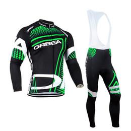 Wholesale Orbea Long Jersey Bib - Orbea Team ropa ciclismo hombre Long Sleeve Cycling Jersey mountain MTB Bib Pants Sets Men Cycling Clothing E0510
