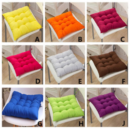 Wholesale Outdoor Seat Cushions Wholesale - 40*40cm Indoor Outdoor Garden Cushion Pillow Patio Home Kitchen Office Car Sofa Chair Seat Soft Cushion Pad HH-D05