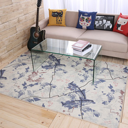 Creative Travel World Map Design Large Carpet Rugs Slip Resistant Living  Room Bedroom Loft Table Part 57