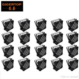 Discount american dj par led - 20pcs Lot 9*12W 4IN1 Led Par Light RGBW DMX 512 Flat Led Par Can 4 7CH 90V-260V American DJ Mega Flat Quar Color LED Par Light TP-G3039-4IN1