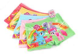 Wholesale Little Pink Underwear - 4 Styles Frozen Sofia My little pony cartoon children boxer underwear baby girls cotton pants for kids pants Briefs Panties underpants A01
