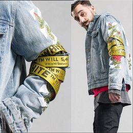 Wholesale Girls Sexy Hips - OFF White Yellow Letters Logo Belts Unisex Sexy Hip Hop Punk Men Women 2Meter Canvas Belt Fashion Kanye West Rihanna Gigi Hadid Stars
