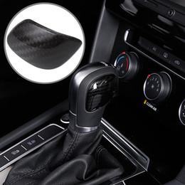 Wholesale Car Gear Shift Knob Cover - Car styling gear shift knob gear head cover sticker for VW Volkswagen Golf 7 MK7 Golf 5 6 Passat B5 B6 B7 Polo CC Tiguan Jetta
