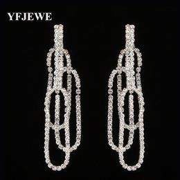Wholesale Glass Flower Chandeliers - YFJEWE Clear Glass Crystal Drop Dangle Earrings Charm Elegant Wedding Jewelry Earrings For Girl Christmas Gift #E427
