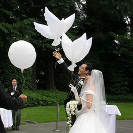 Wholesale Dove Balloons - Wedding biodegradable white Dove Helium Balloons