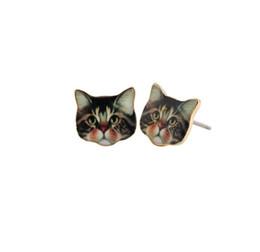 Gatinho brinco on-line-Hot Moda Kitty Ear Projetado Brinco Brincos Animais Bonitos Grandes Olhos Brincos Gato Preto para As Mulheres Adolescente Lady Presente